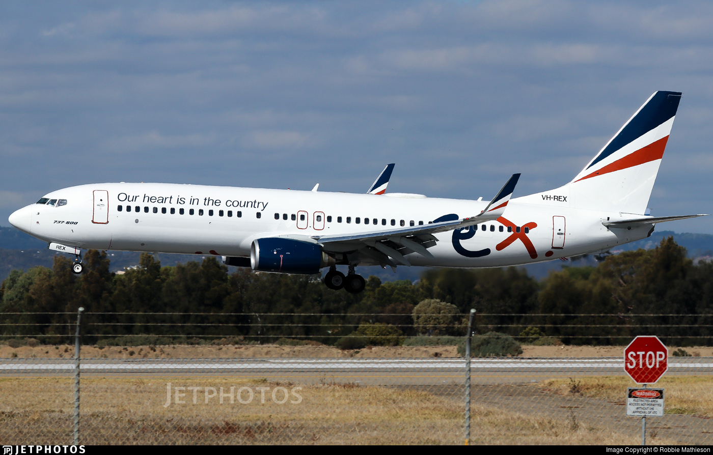 VH-REX - Boeing 737-8FE - Regional Express (REX)