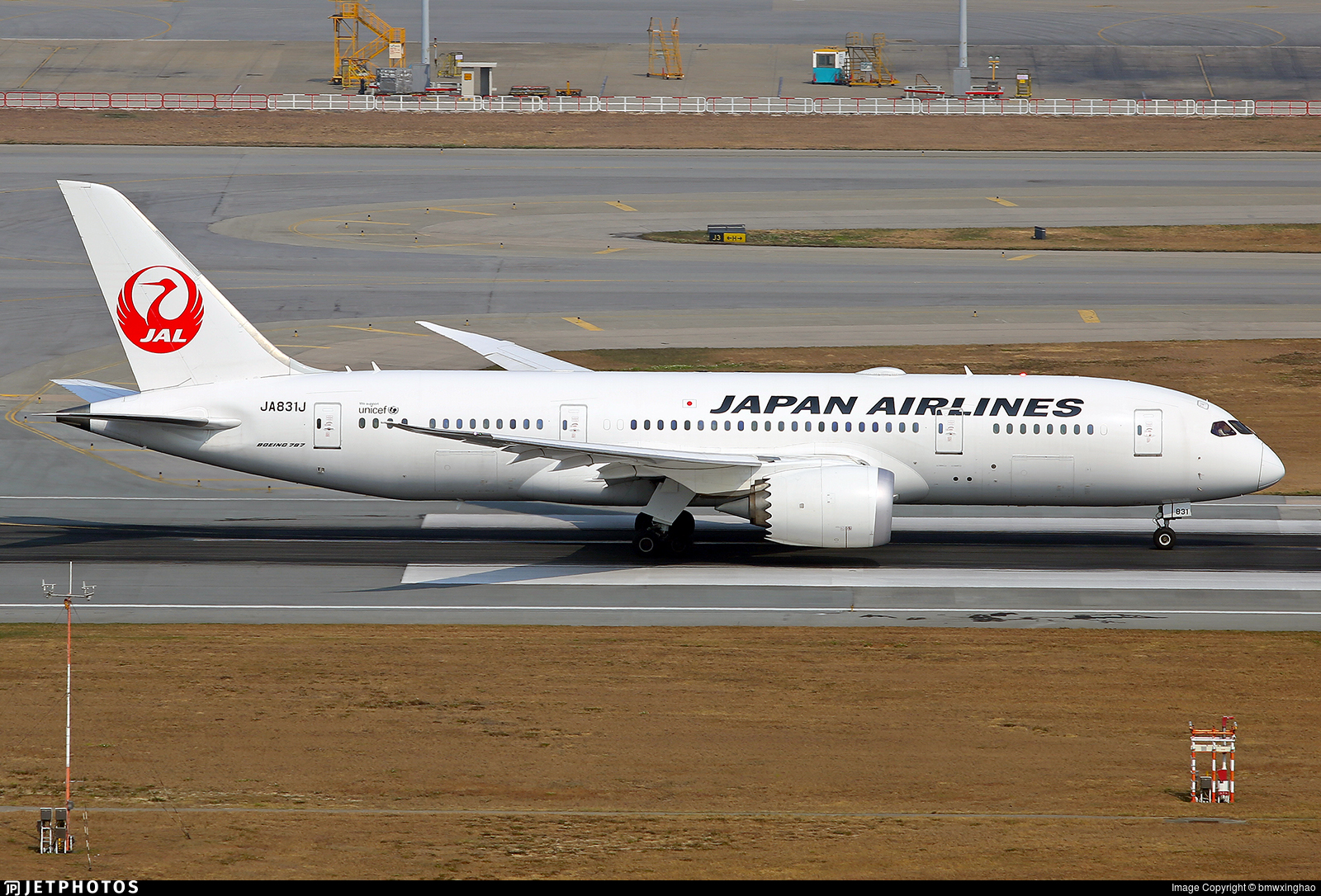 JA831J - Boeing 787-8 Dreamliner - Japan Airlines (JAL)