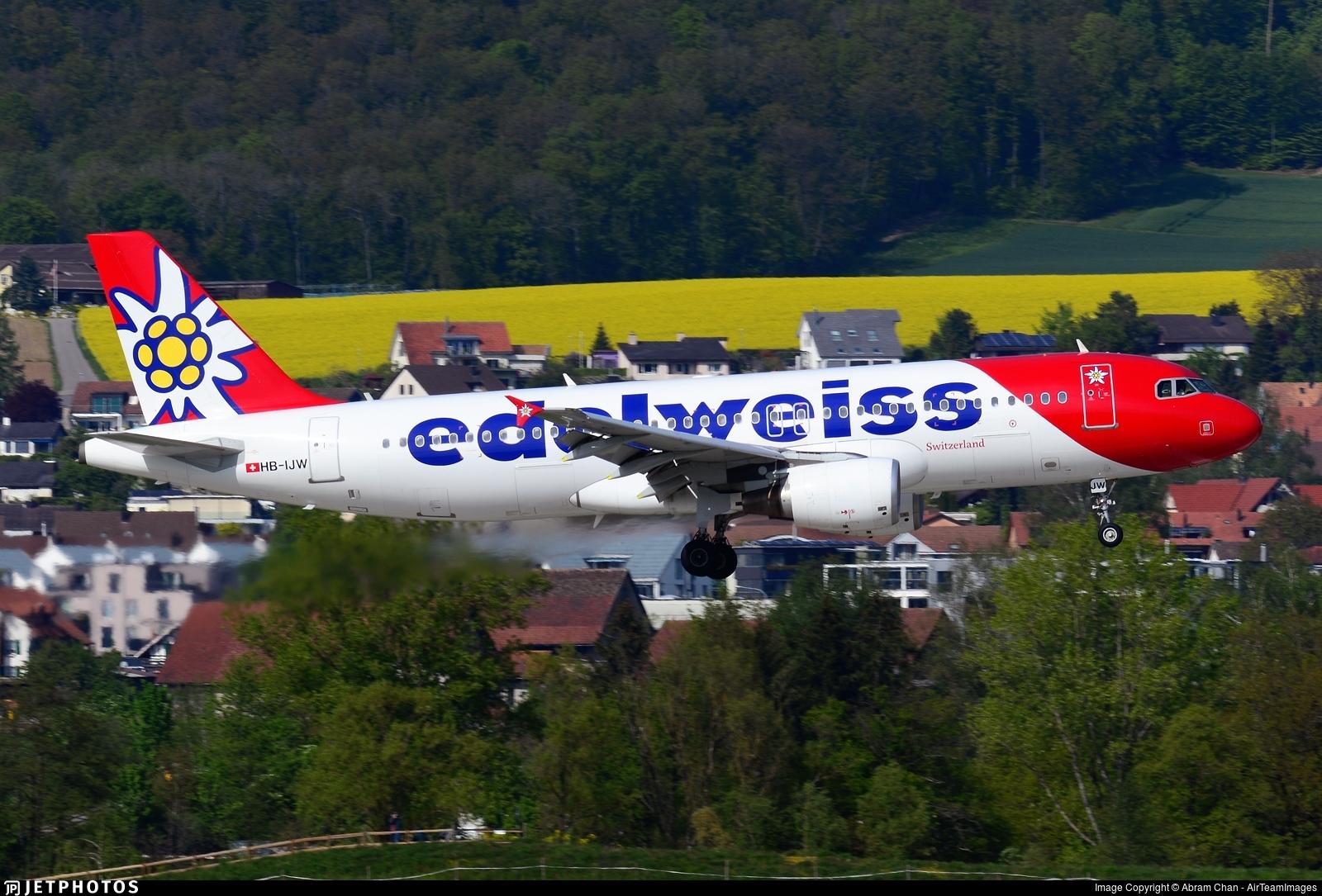 HB-IJW - Airbus A320-214 - Edelweiss Air