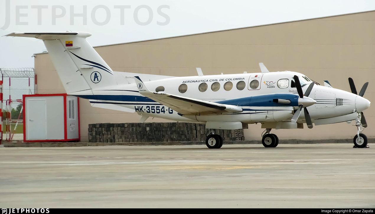 HK-3554-G - Beechcraft B200 Super King Air - Colombia - Aeronautica Civil