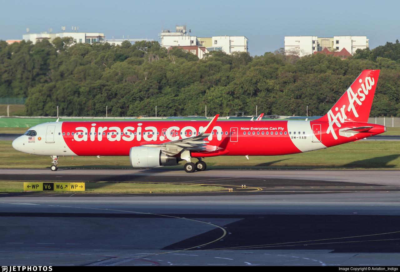 9M-VAB - Airbus A321-251NX - AirAsia