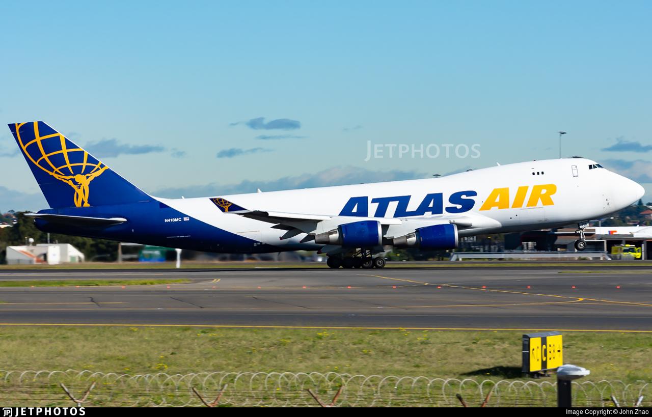 N418MC - Boeing 747-47U(F) - Atlas Air