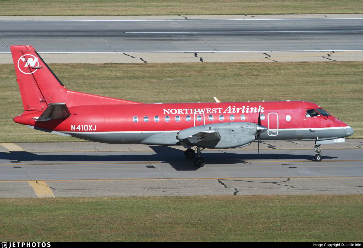 N410XJ - Saab 340B+ - Northwest Airlink (Mesaba Airlines)