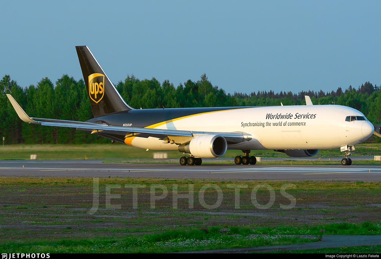N350UP - Boeing 767-34AF(ER) - United Parcel Service (UPS)