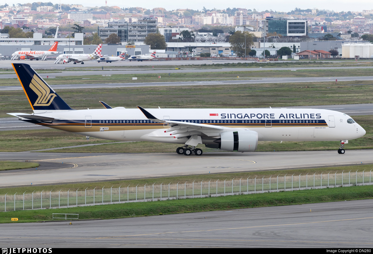 F-WZGZ - Airbus A350-941 - Singapore Airlines
