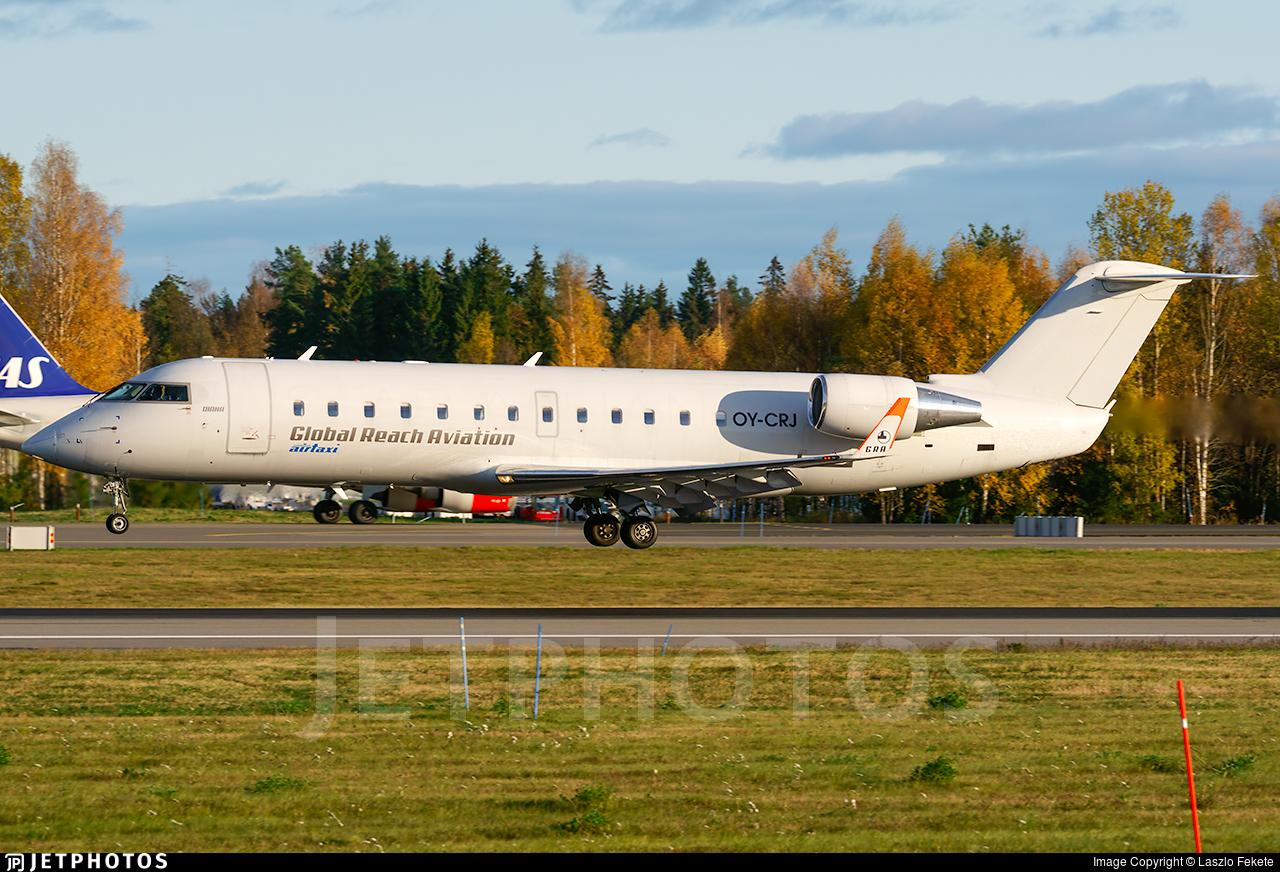 OY-CRJ - Bombardier CRJ-200LR - Copenhagen Air Taxi (CAT) (Global Reach Aviation)