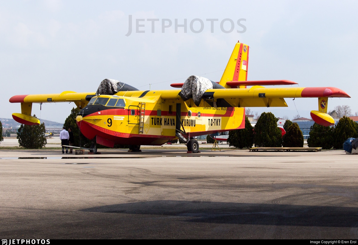TC-TKY - Canadair CL-215 - Turkey - Turkish Aeronautical Association
