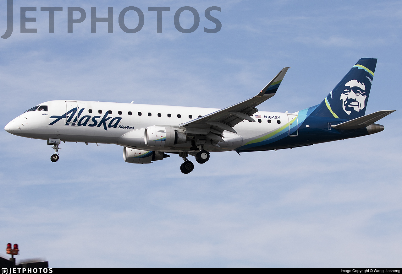 N184SY - Embraer 170-200LR - Alaska Airlines (Skywest Airlines)