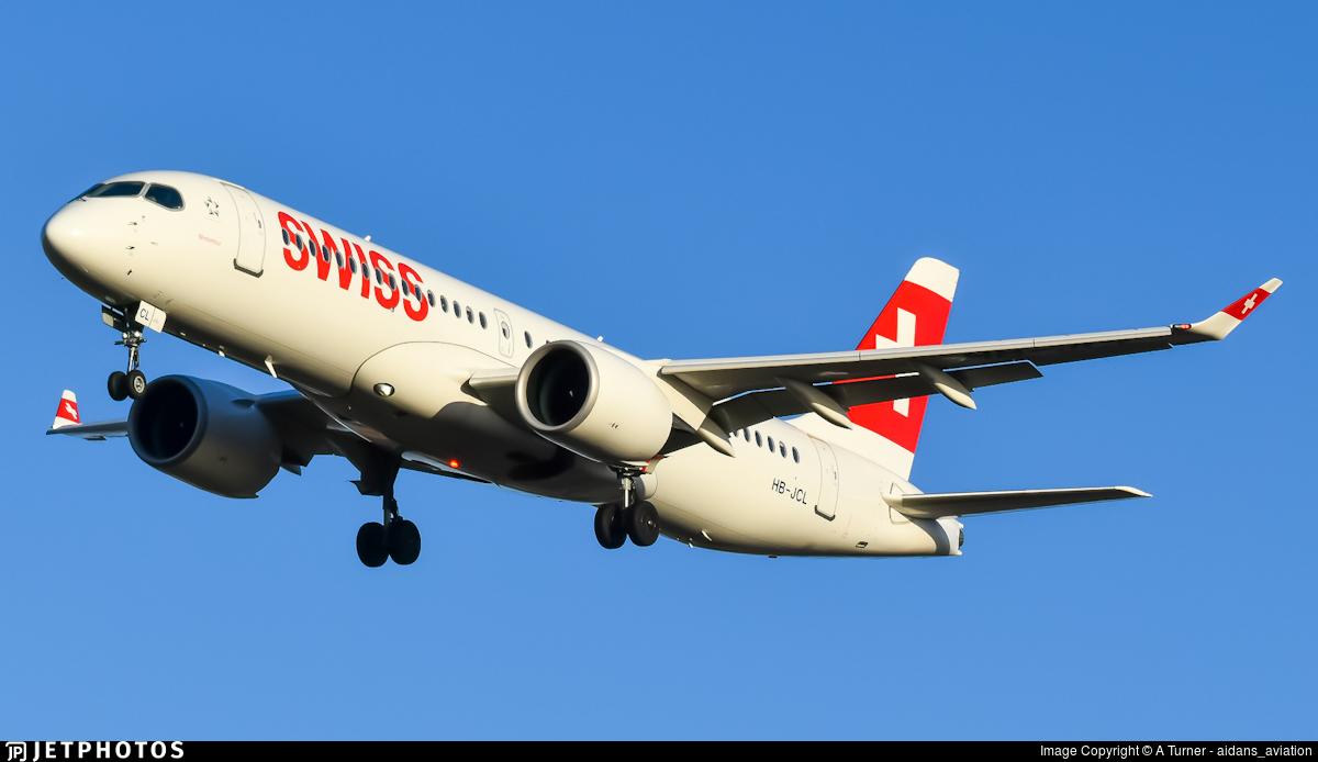 HB-JCL - Bombardier CSeries CS300 - Swiss