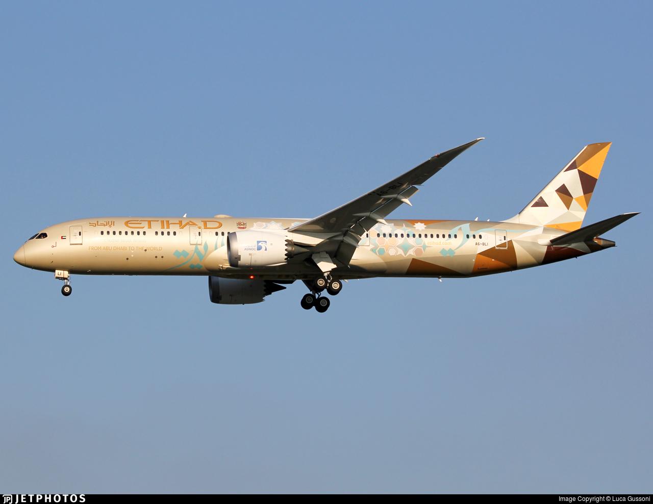 A6-BLI - Boeing 787-9 Dreamliner - Etihad Airways