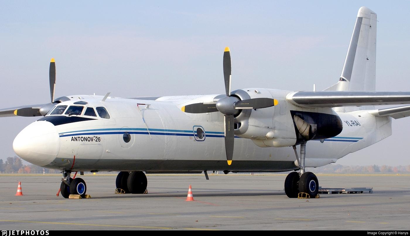 YL-RAI - Antonov An-26B - Raf-Avia Airlines