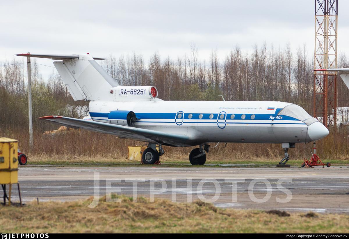 RA-88251 - Yakovlev Yak-40K - Vologda Air