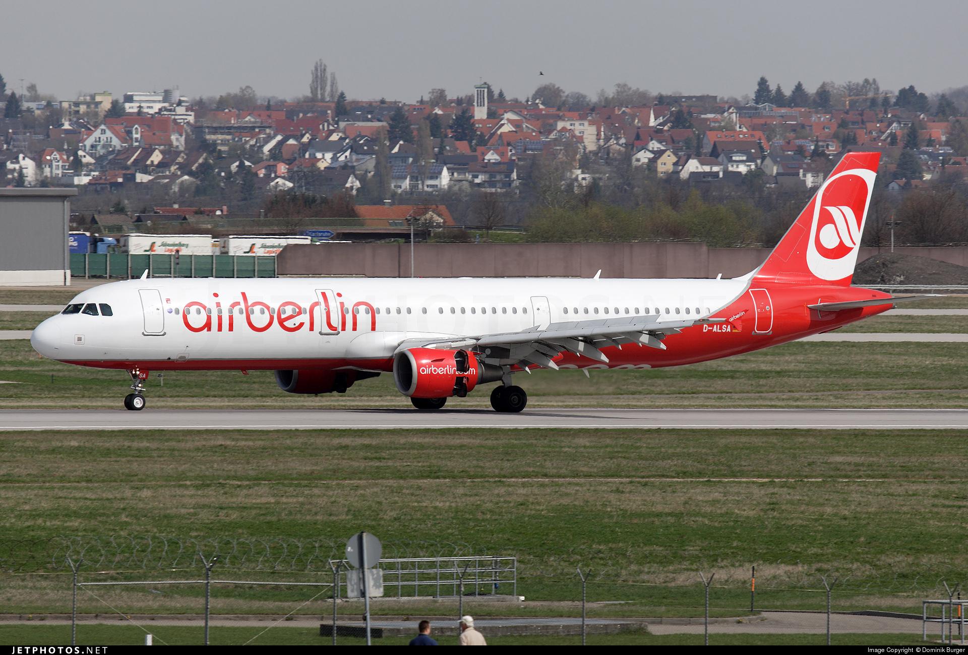 D-ALSA - Airbus A321-211 - Air Berlin