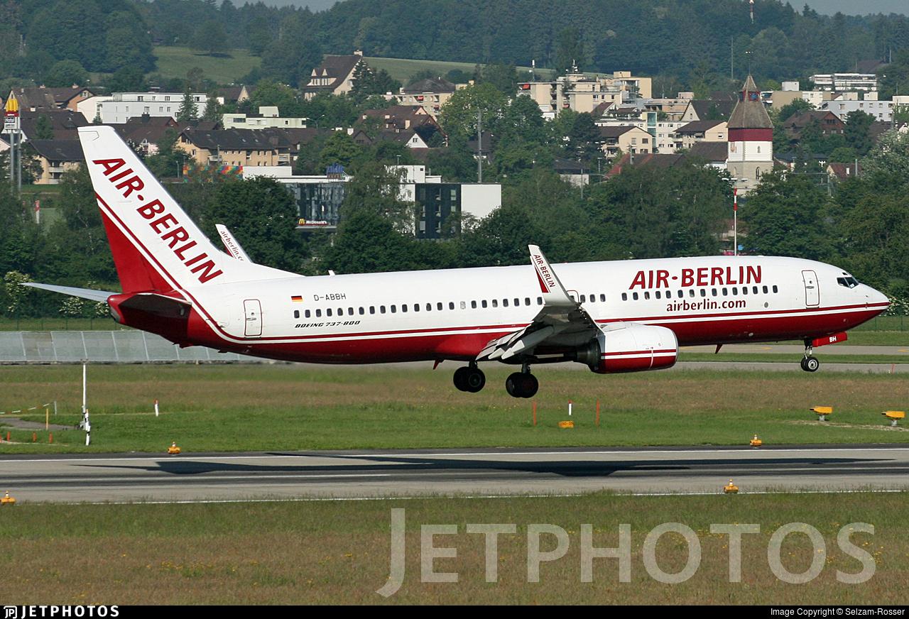 D-ABBH - Boeing 737-86J - Air Berlin