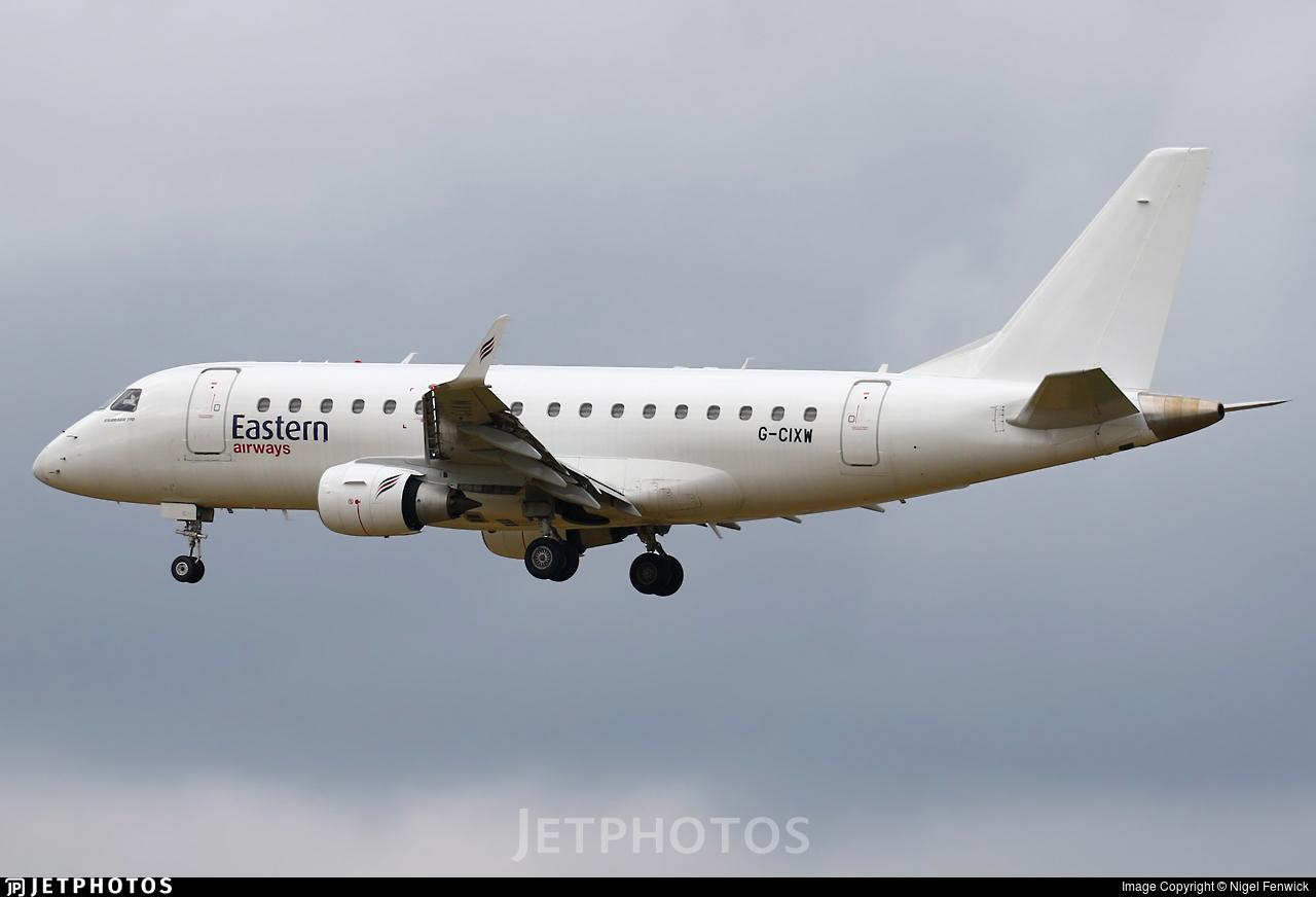 G-CIXW - Embraer 170-100LR - Eastern Airways