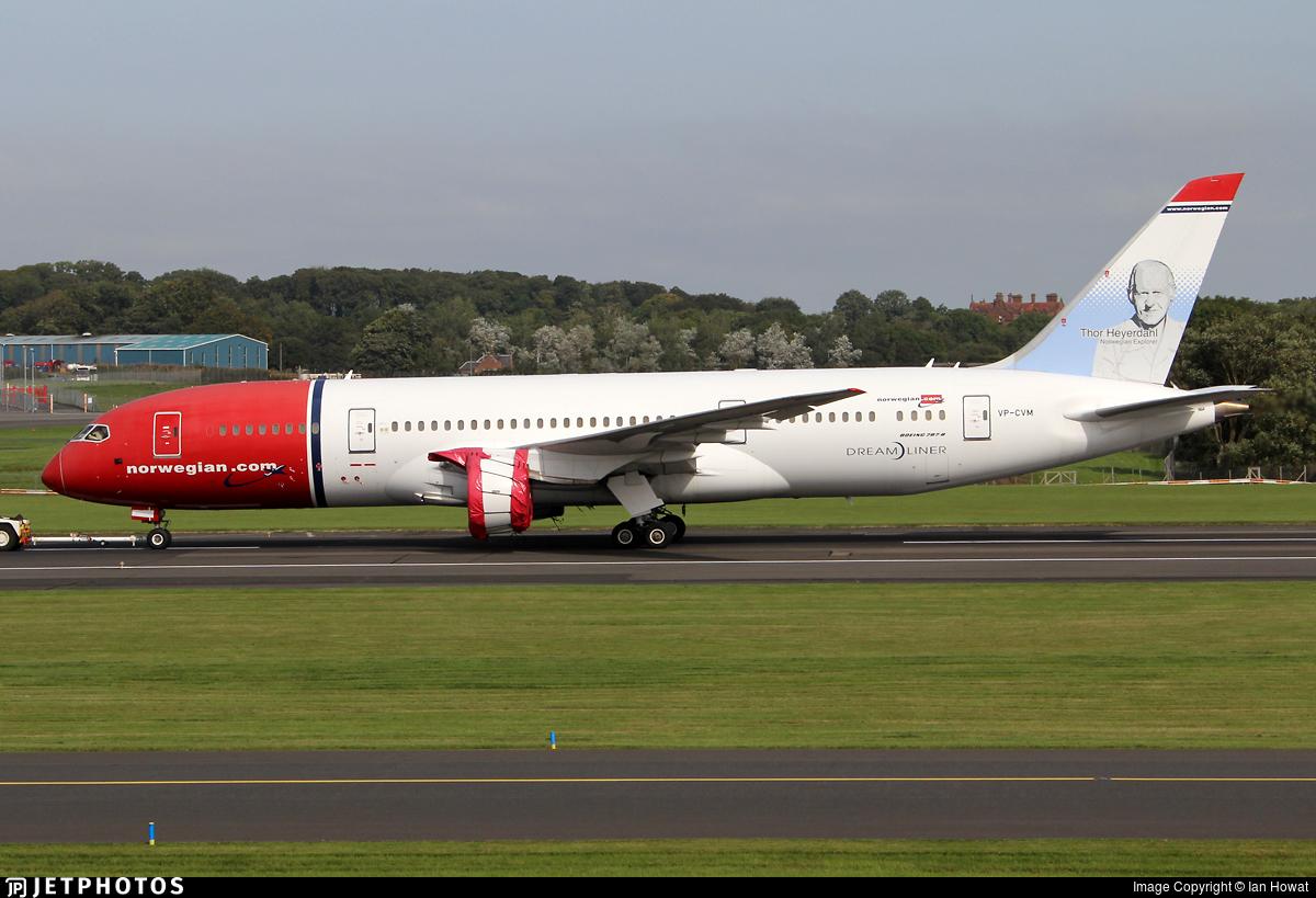 VP-CVM - Boeing 787-8 Dreamliner - Norwegian