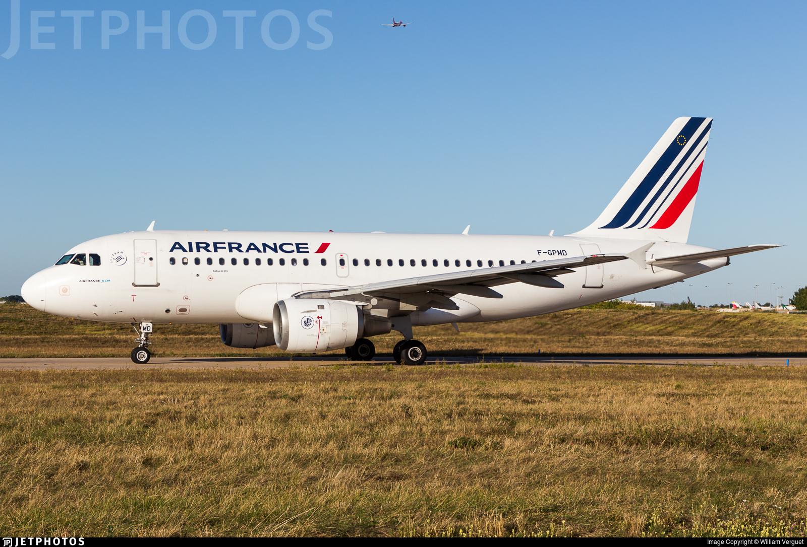 F-GPMD - Airbus A319-113 - Air France