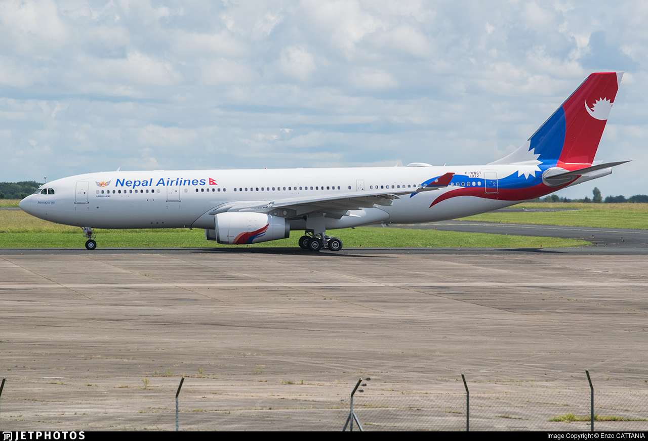 F-WWCT - Airbus A330-243 - Nepal Airlines