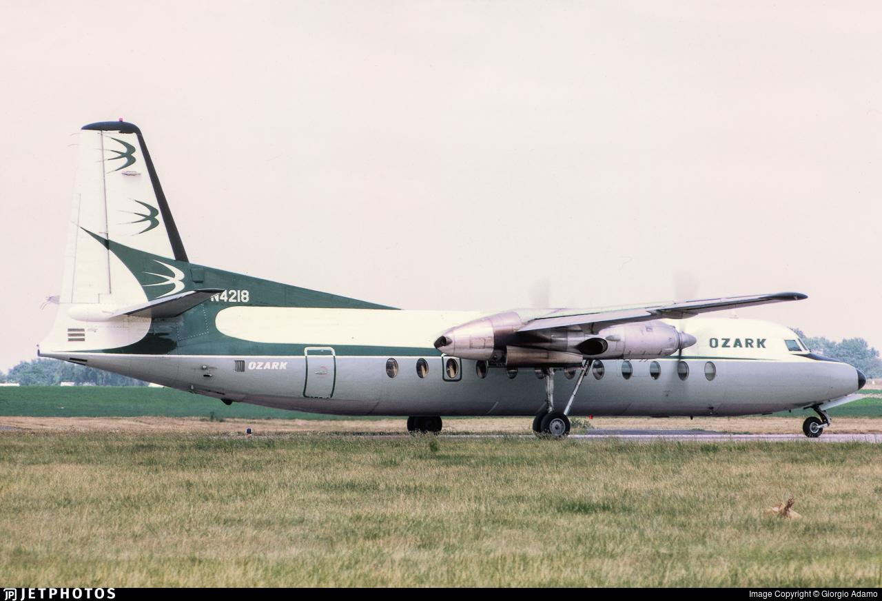 N4128 - Fairchild-Hiller FH-227 - Ozark Air Lines