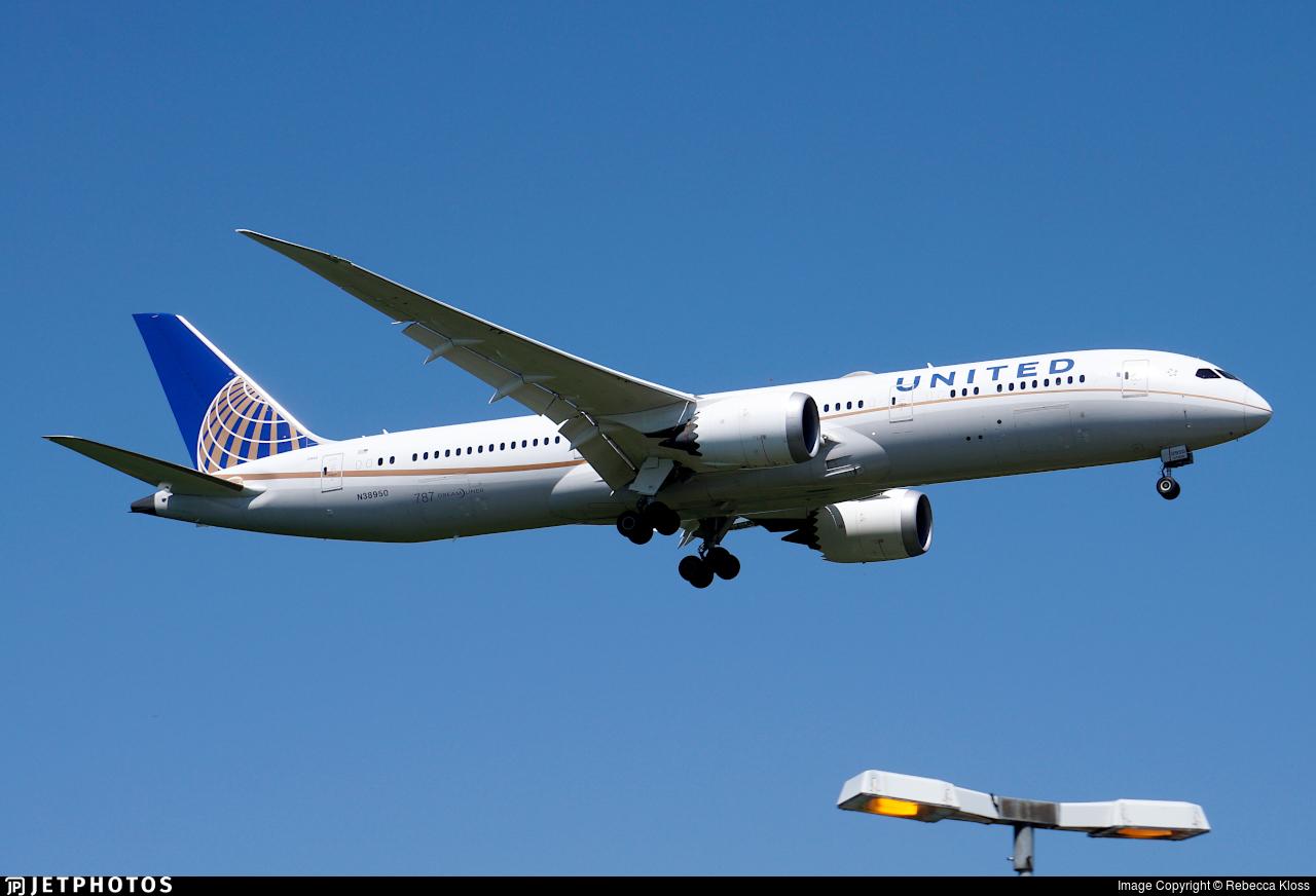 N38950 - Boeing 787-9 Dreamliner - United Airlines
