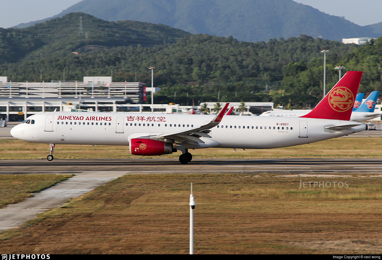 B-8957 - Airbus A321-231 - Juneyao Airlines