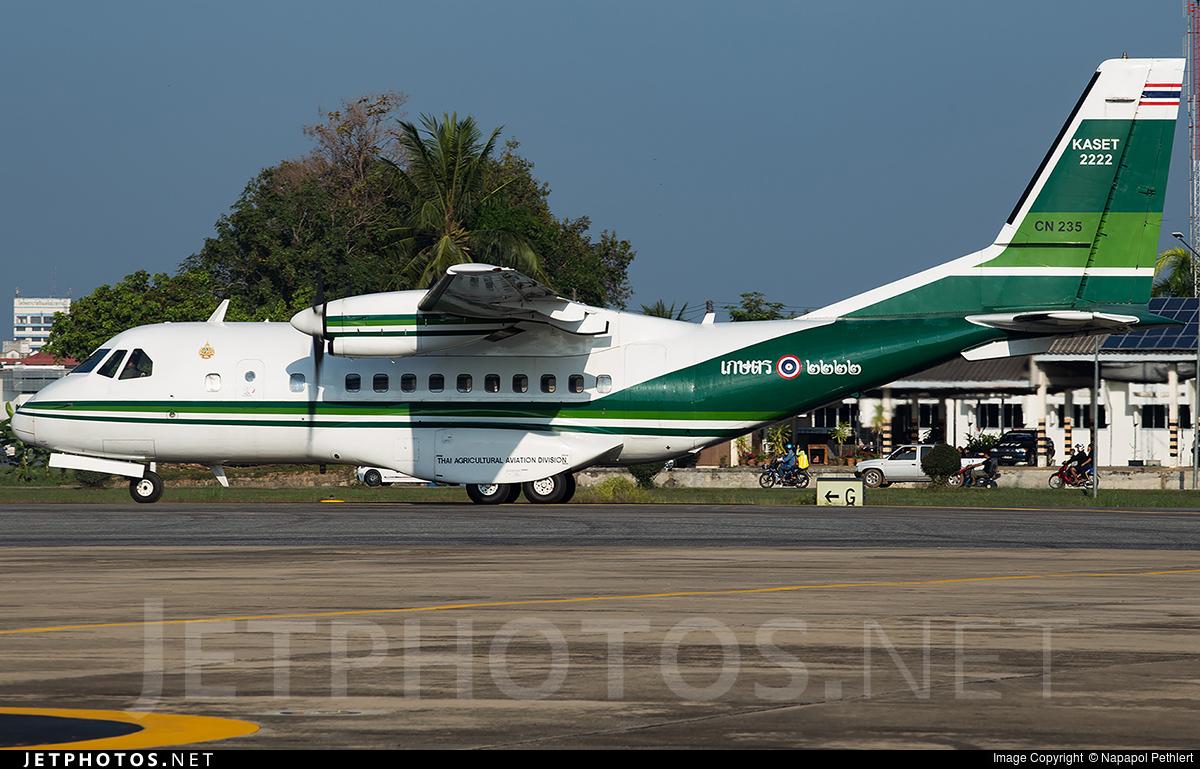 2222 - IPTN CN-235-220 - Thailand - Bureau of Royal Rainmaking and Agricultural Aviation (KASET)