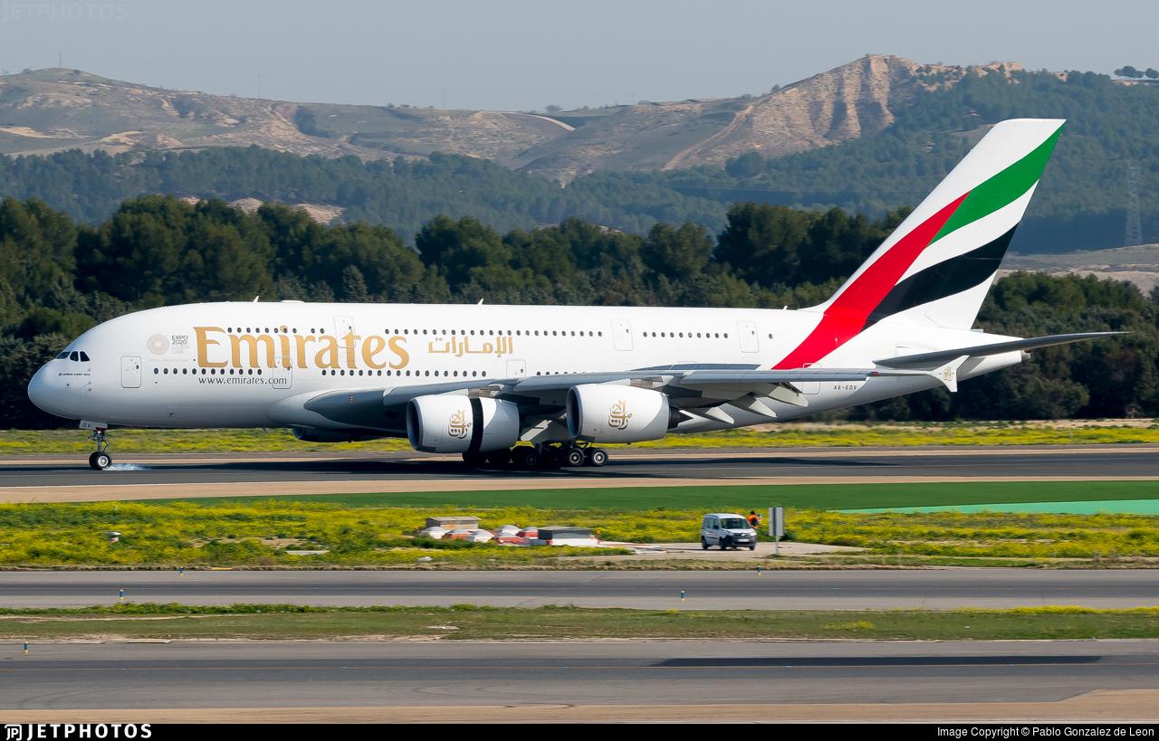 A6-EDV - Airbus A380-861 - Emirates