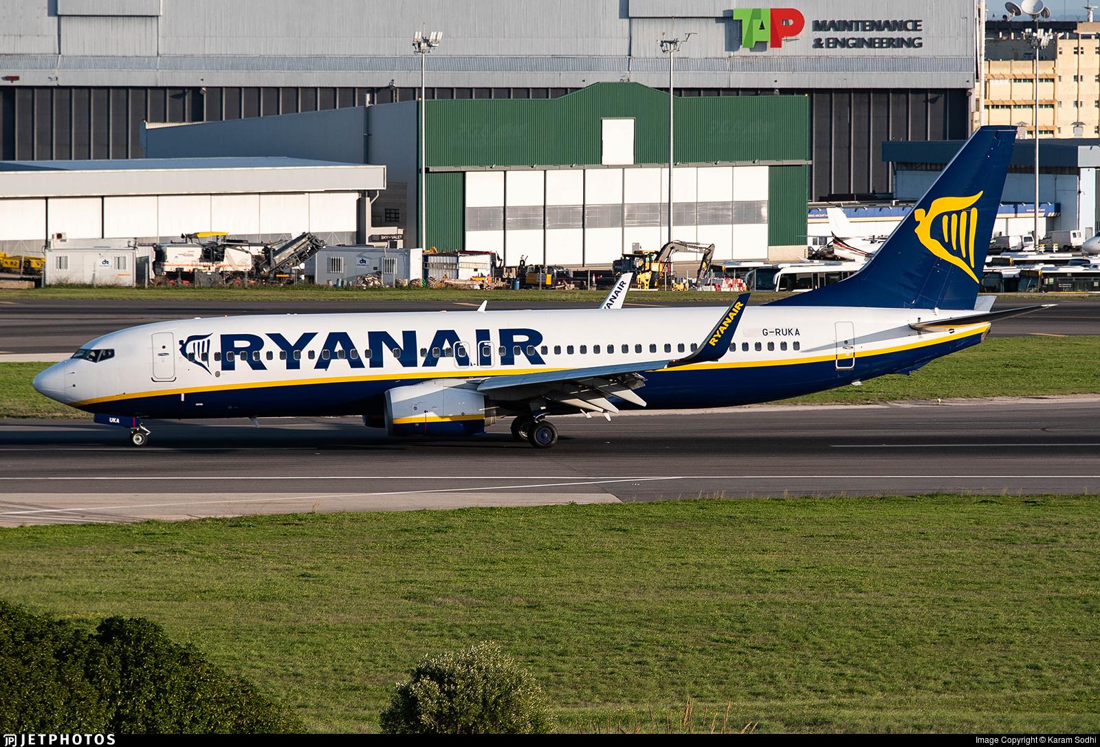 G-RUKA - Boeing 737-8AS - Ryanair UK