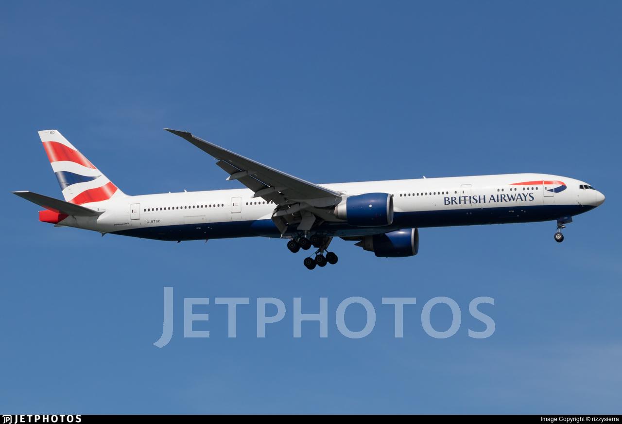G-STBD - Boeing 777-36NER - British Airways