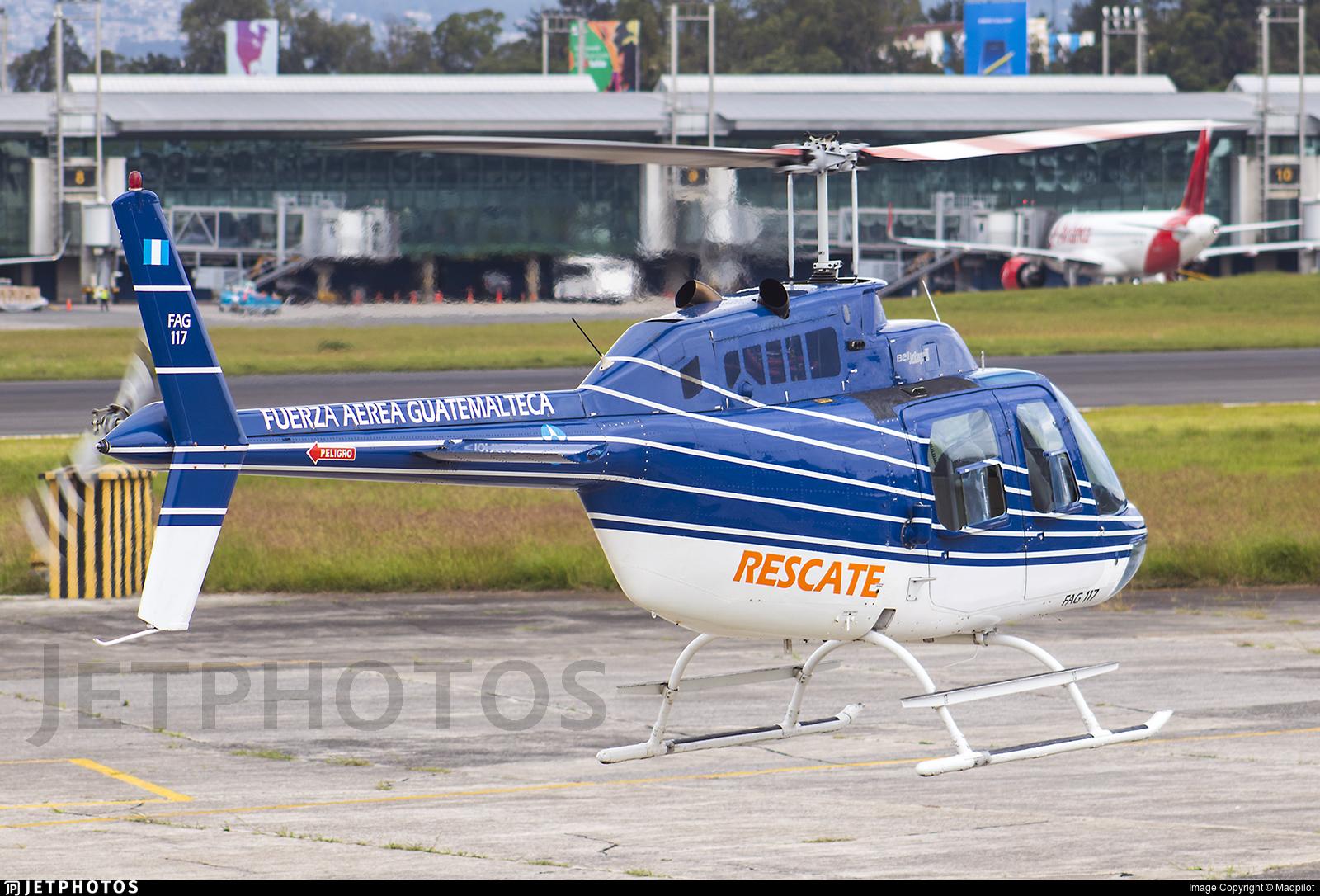 117 - Bell 206B JetRanger III - Guatemala - Air Force