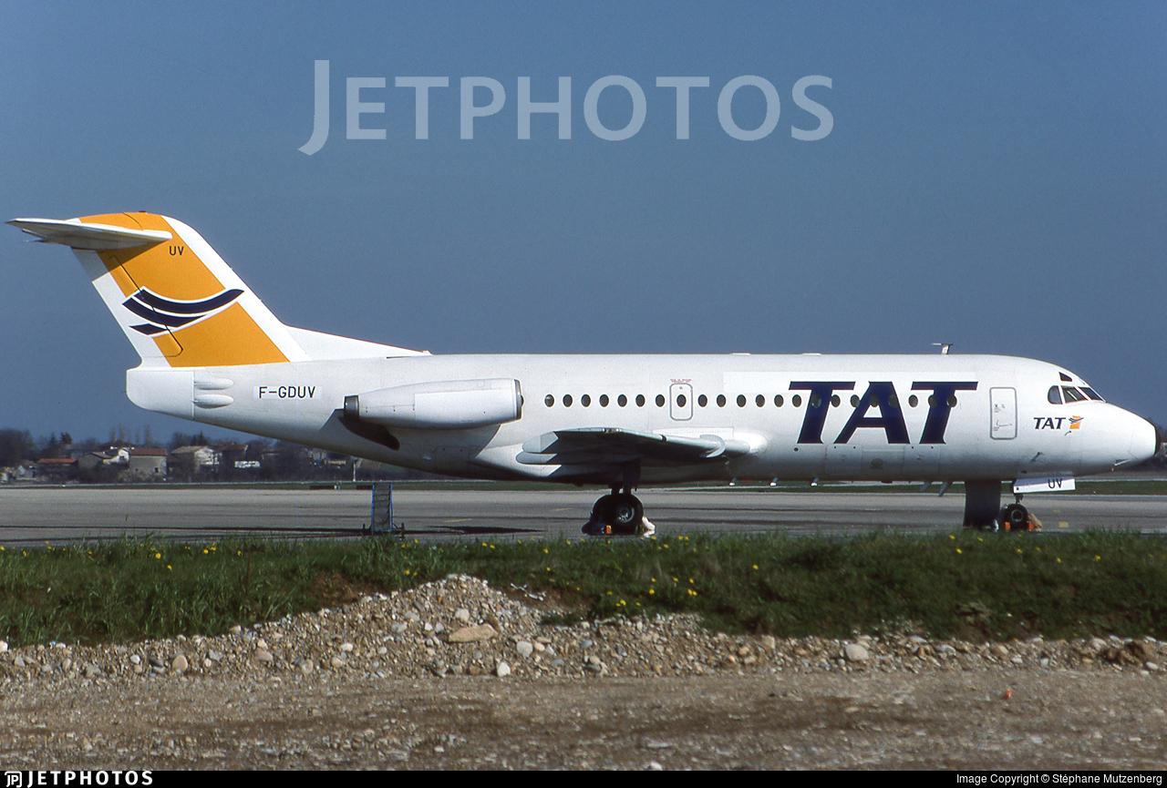 F-GDUV - Fokker F28-2000 Fellowship - TAT European Airlines