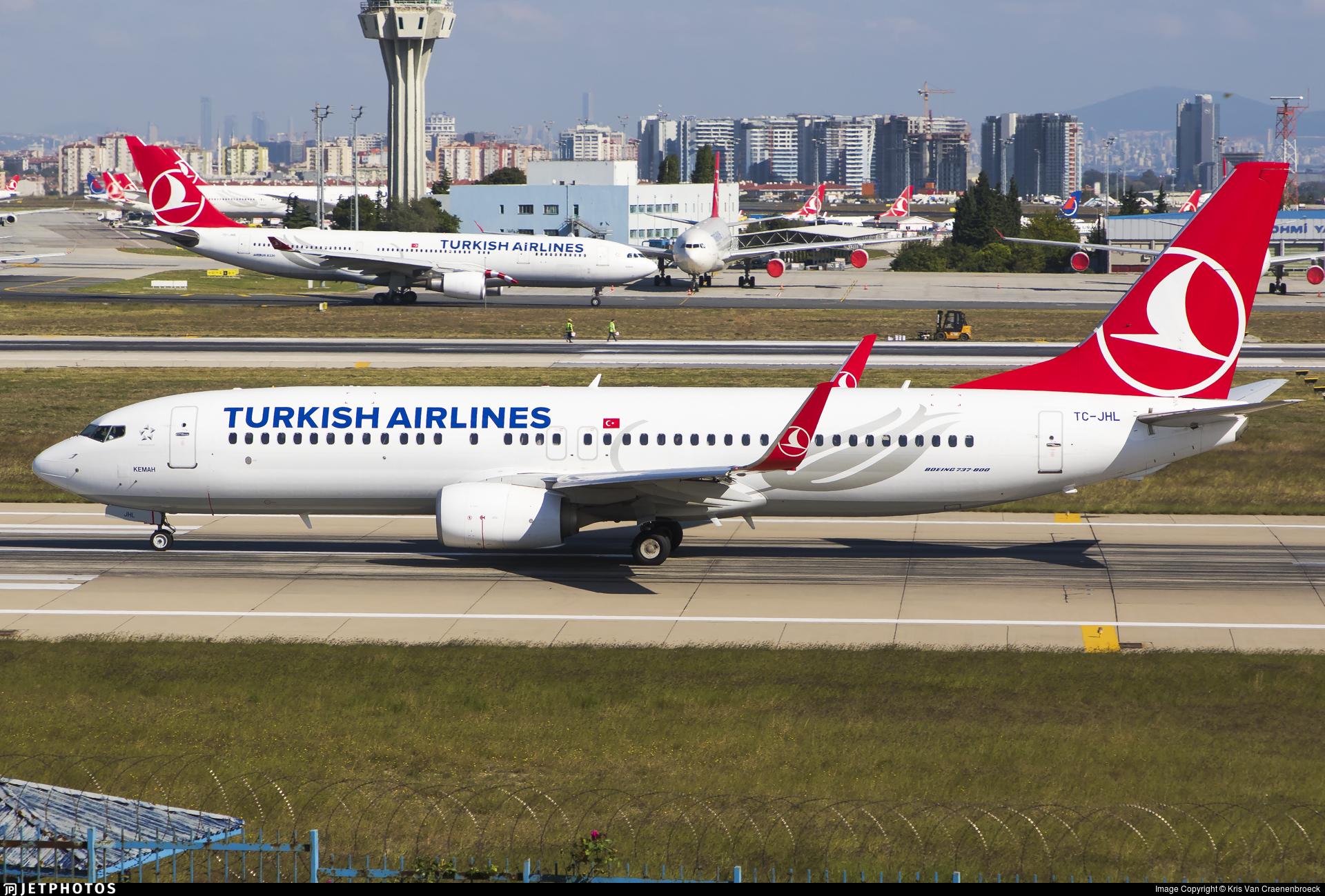 TC-JHL - Boeing 737-8F2 - Turkish Airlines