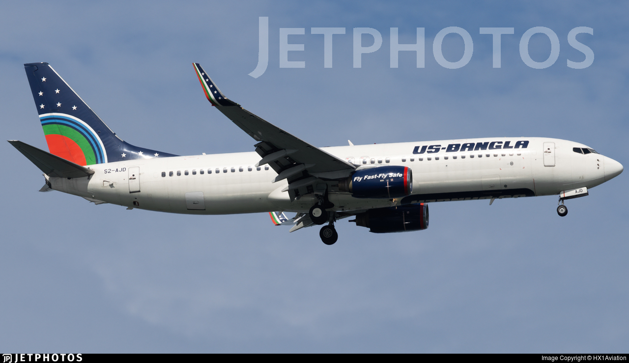 S2-AJD - Boeing 737-8Q8 - US-Bangla Airlines