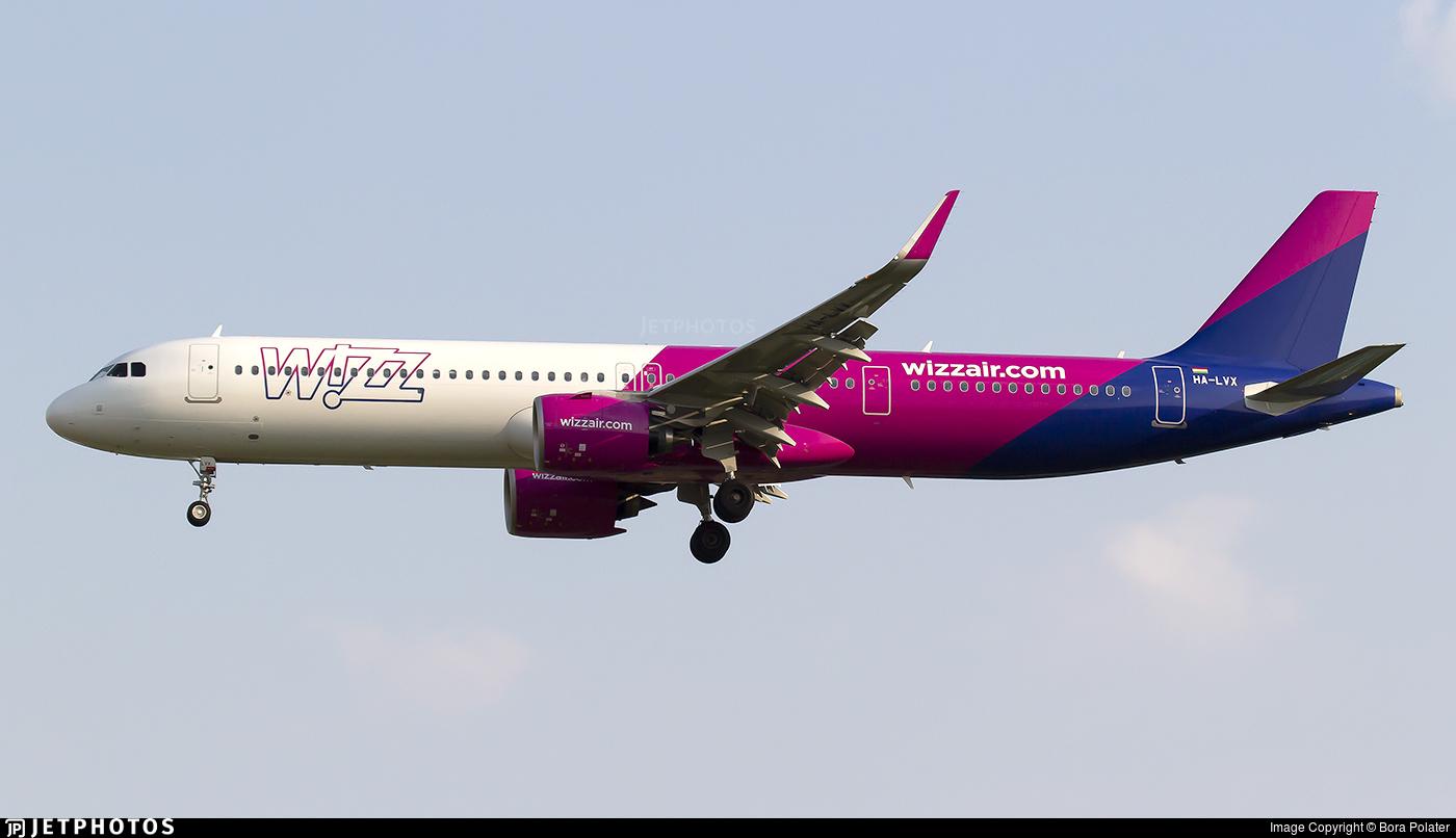 HA-LVX - Airbus A321-271NX - Wizz Air