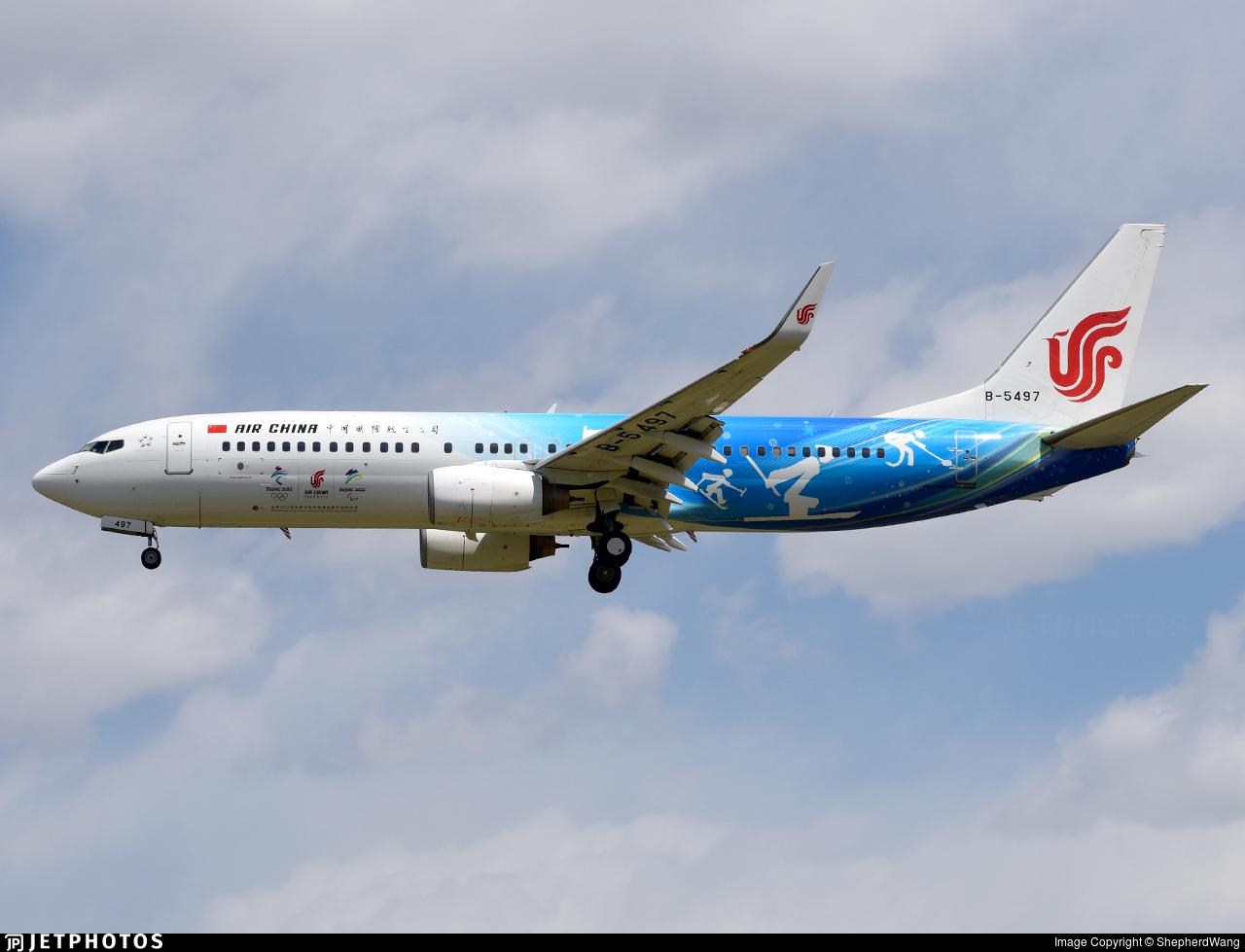 B-5497 - Boeing 737-89L - Air China