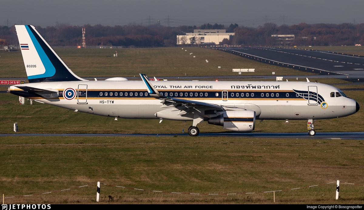 HS-TYW - Airbus A320-214(CJ) Prestige - Thailand - Royal Thai Air Force