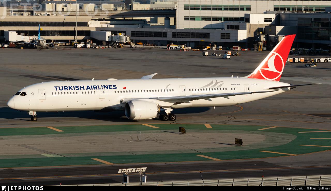 TC-LLH - Boeing 787-9 Dreamliner - Turkish Airlines