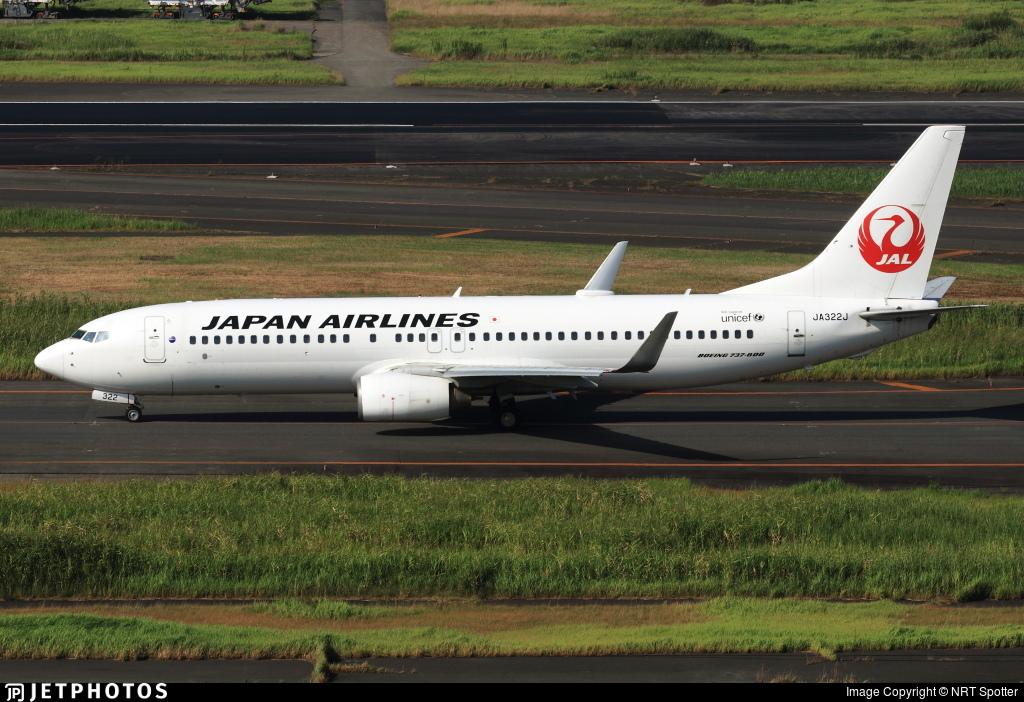 JA322J - Boeing 737-846 - Japan Airlines (JAL)