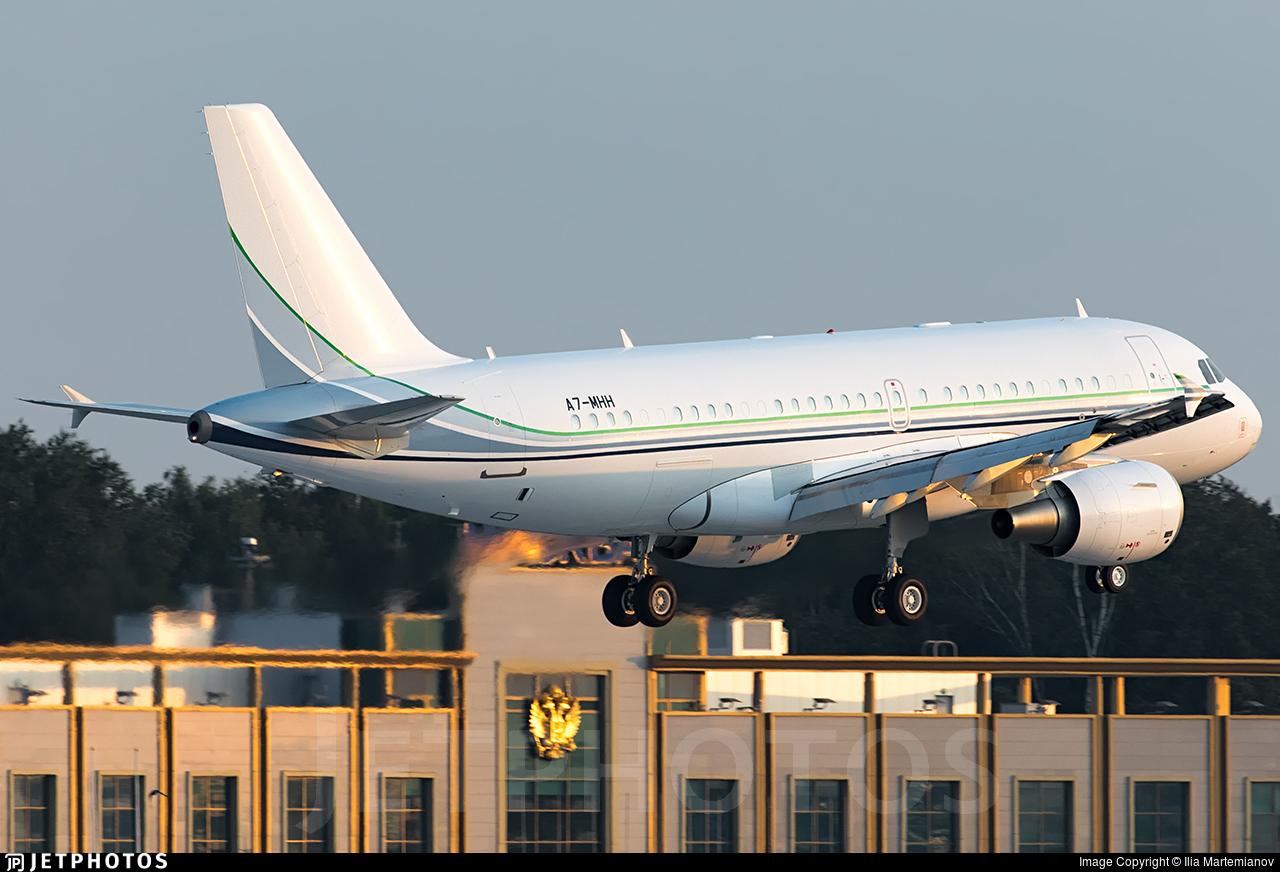 A7-MHH - Airbus A319-115(CJ) - Qatar - Amiri Flight