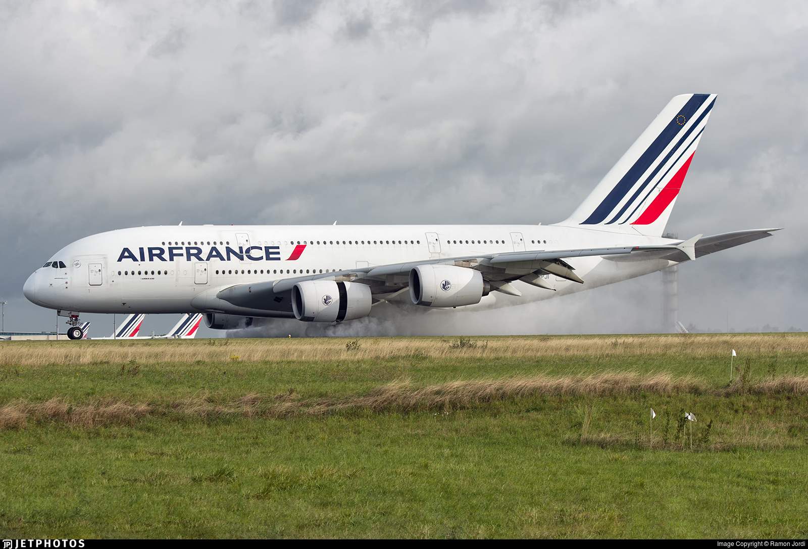 F hpji airbus a380 861 air france ramon jordi for A380 air france interieur