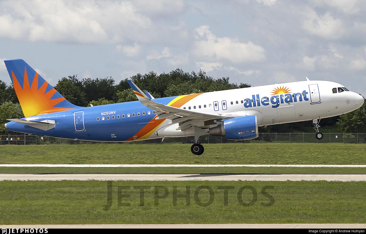 N250NV - Airbus A320-214 - Allegiant Air