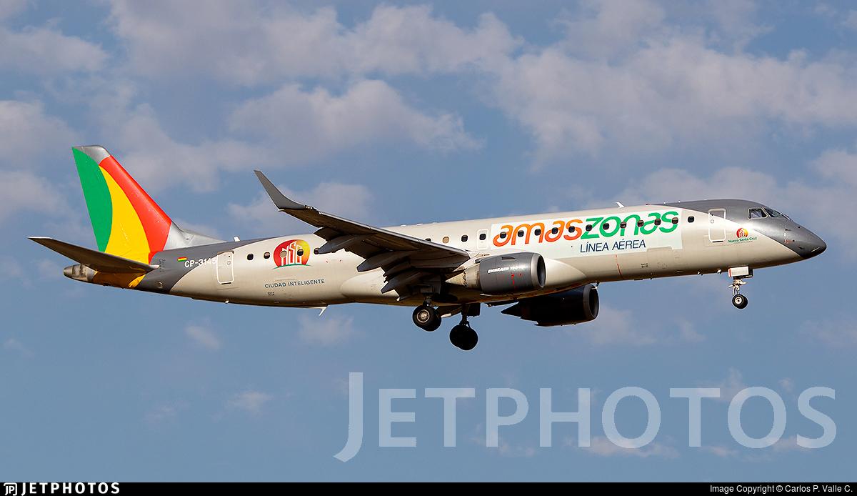CP-3145 - Embraer 190-100LR - Linea Aerea Amaszonas