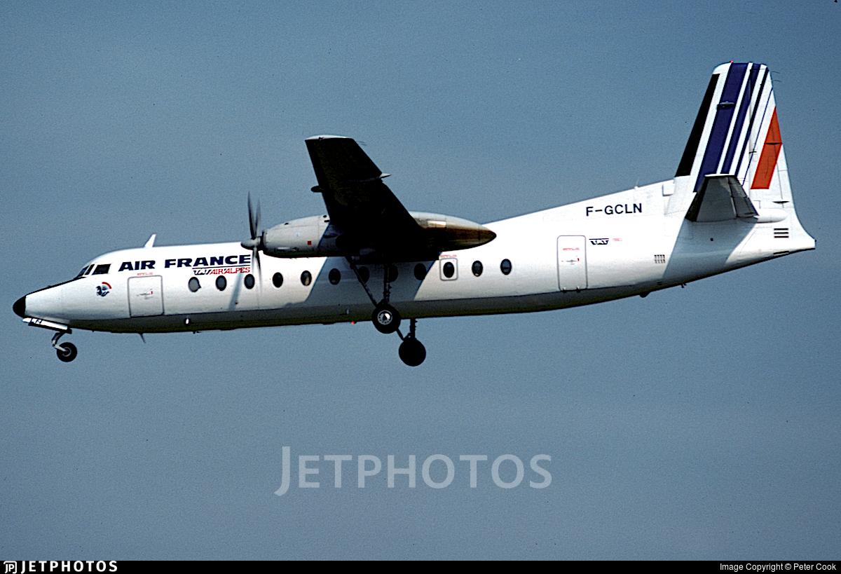 F-GCLN - Fairchild-Hiller FH-227B - Air France