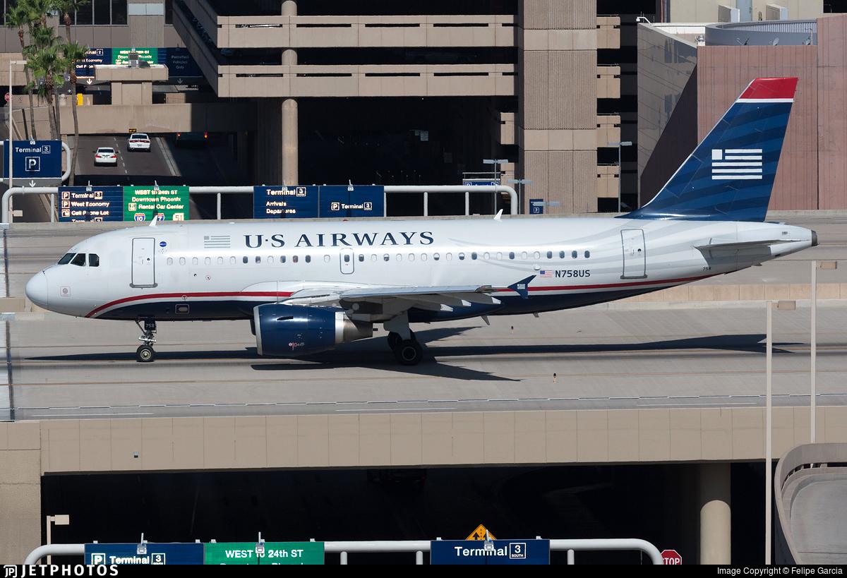 N758US - Airbus A319-112 - US Airways