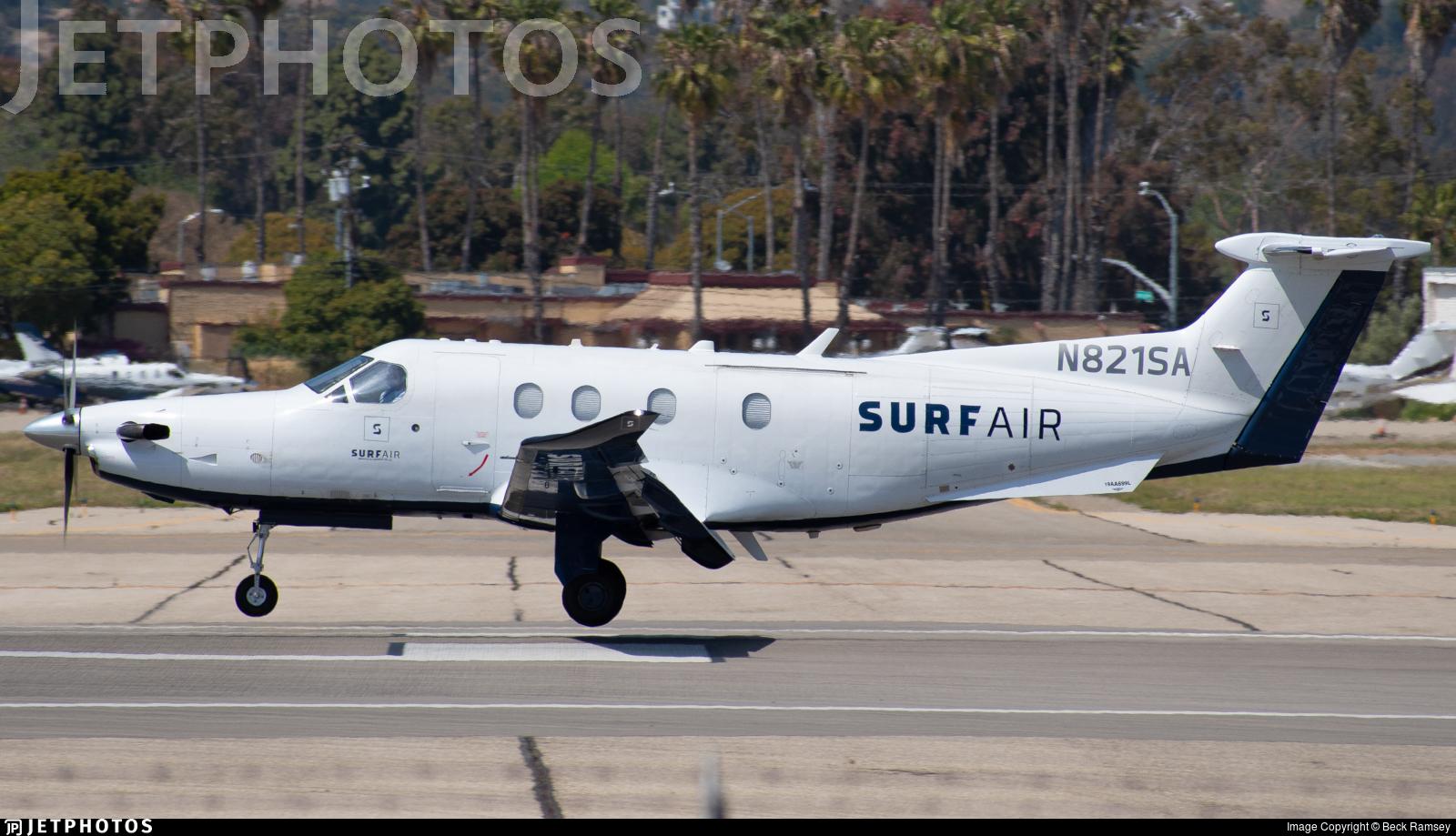N821SA - Pilatus PC-12/47E - SurfAir