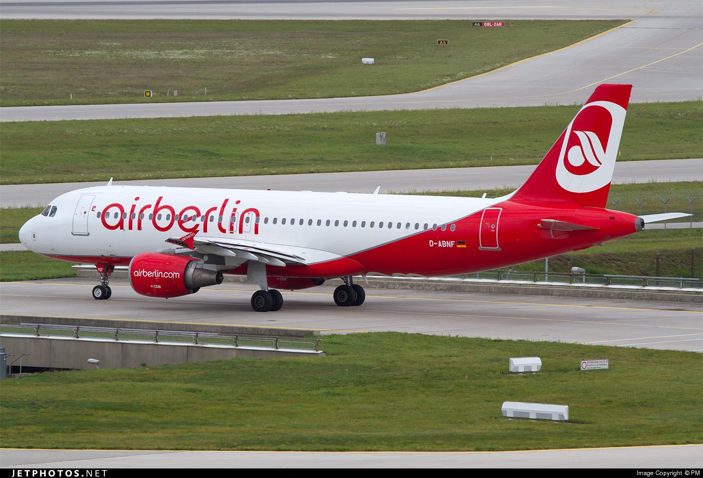 D-ABNF - Airbus A320-214 - Air Berlin