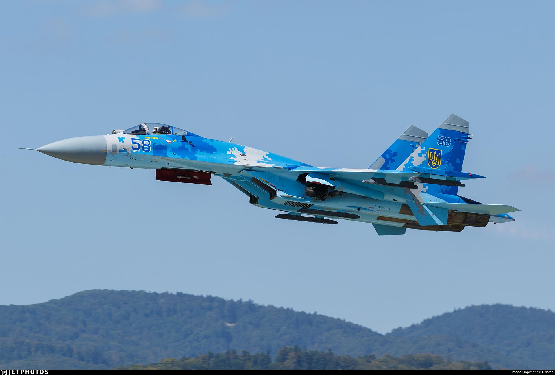 58 sukhoi su27p flanker ukraine air force bistvan