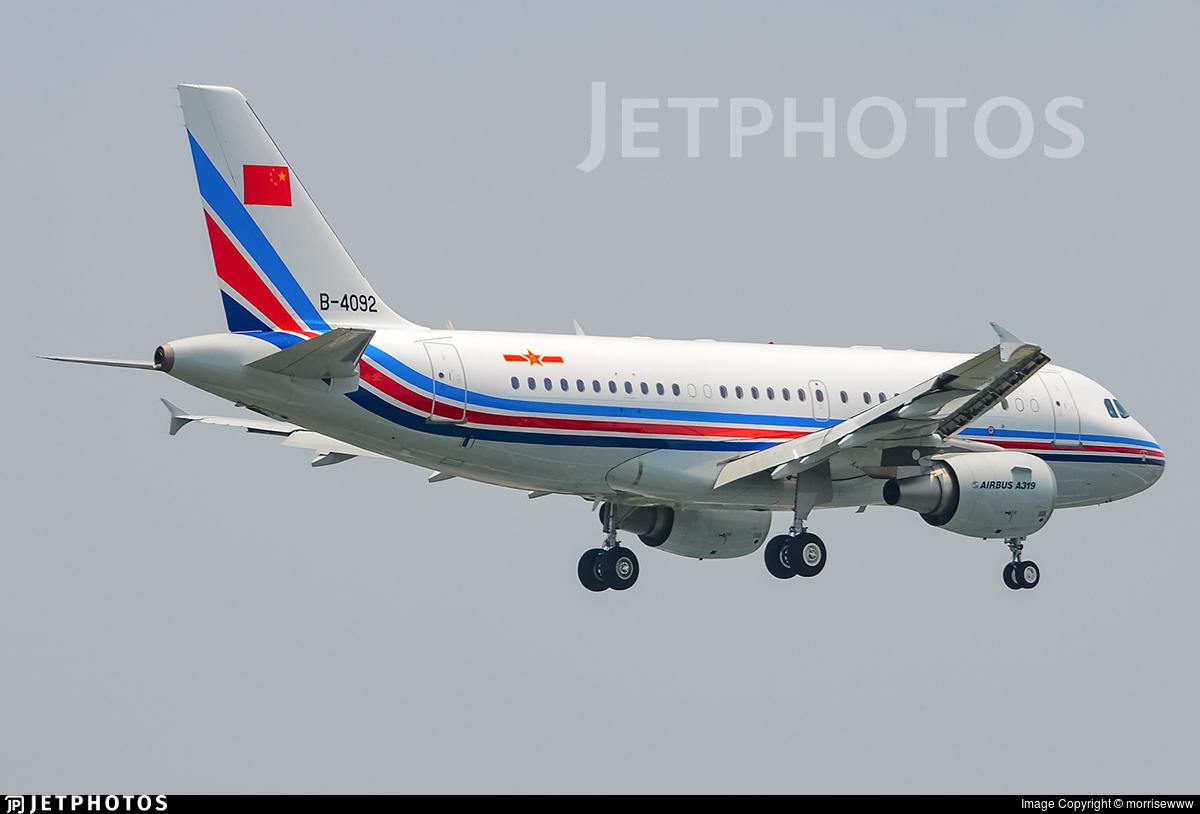 B-4092 - Airbus A319-115 - China - Air Force
