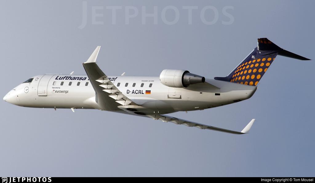 D-ACRL - Bombardier CRJ-200ER - Lufthansa Regional (Eurowings)