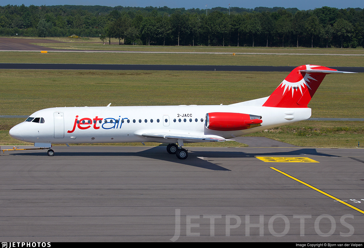 2-JACC - Fokker 70 - Jetair Caribbean